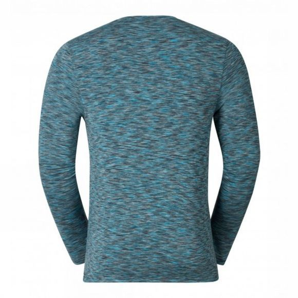 Odlo Mens Sillian Long Sleeve T-Shirt Peacoat Space Dyed