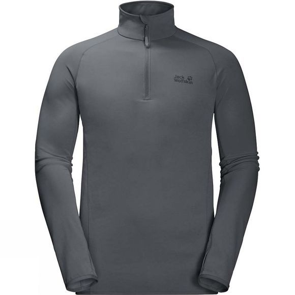 Mens Hydropore Half Zip Long Sleeve Top