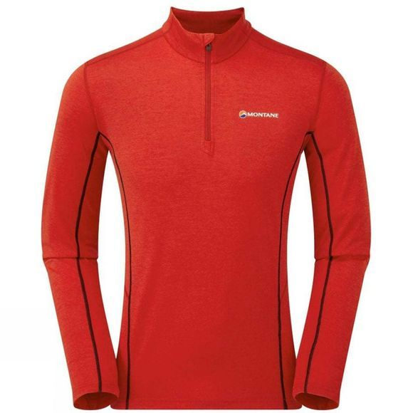 Montane Mens Dart Zip Neck Tee Alpine Red