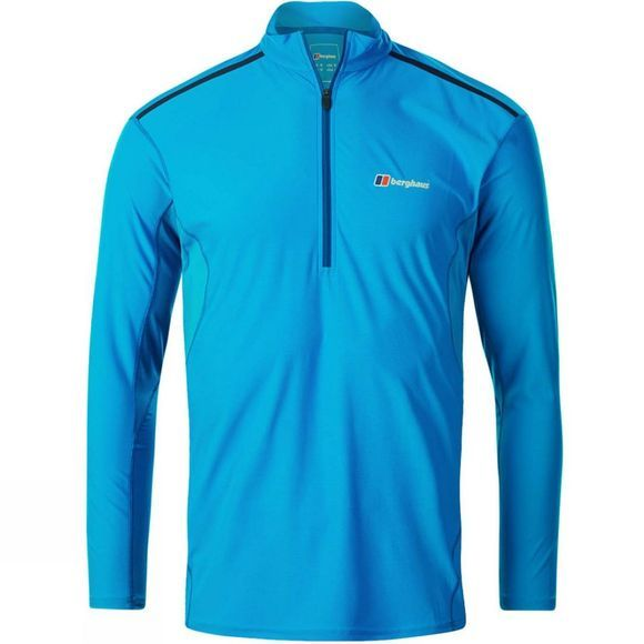 Berghaus Mens Super Tech Tee Long Sleeve Zip Adriatic