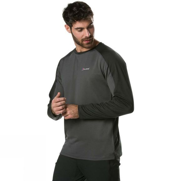 Berghaus Mens Tech Tee 2.0 Long Sleeve Crew Carbon/Black