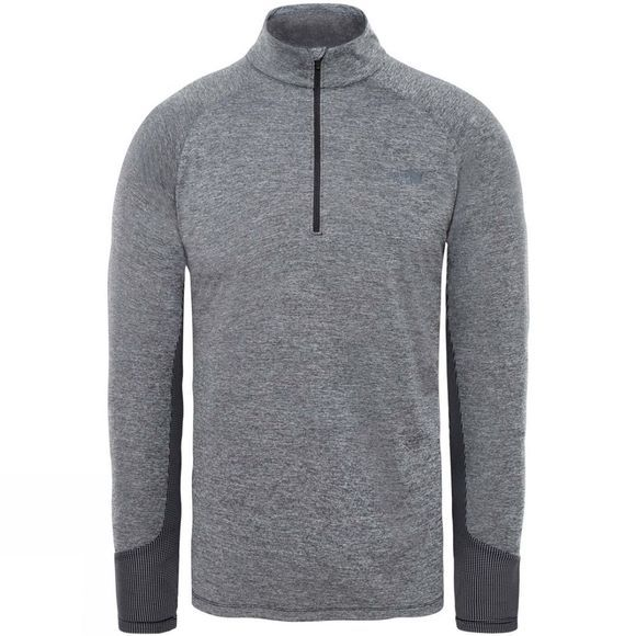 The North Face Mens Ambition 1/4 Zip Crew Top TNF Black Heather