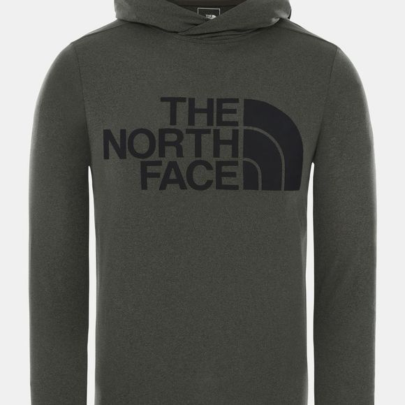The North Face Mens 24/7 Big Logo Hoodie New Taupe Green Heather