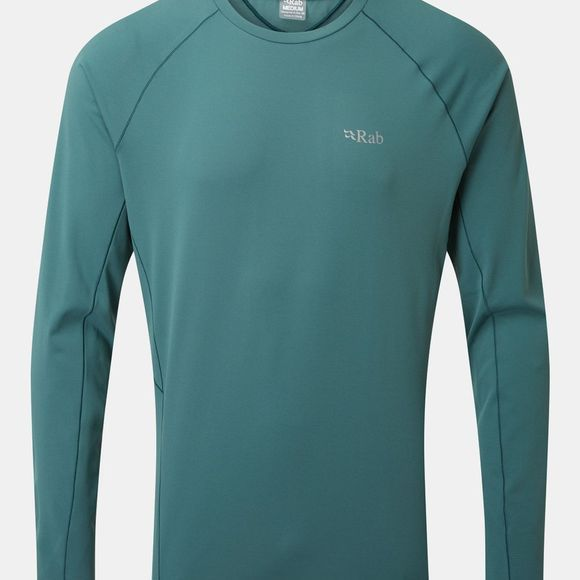 Rab Mens Force Long Sleeve Tee Bright Arctic