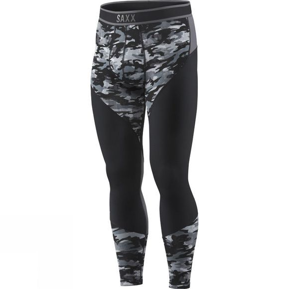 Saxx Mens Kinetic Tights Shutter Grey Camo