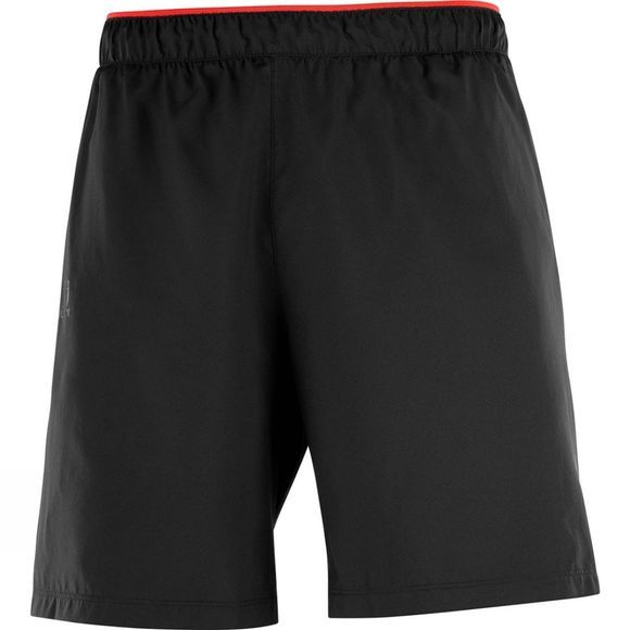 Salomon Mens Pulse Shorts Black/Fiery Red