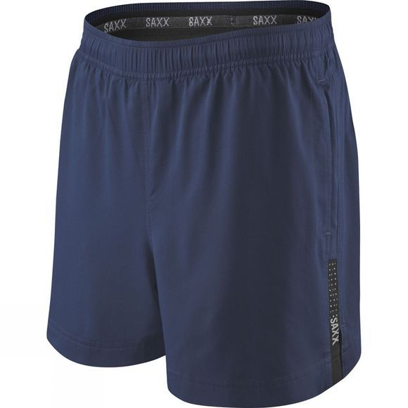 Saxx Mens Kinetic Run Shorts Bright Navy