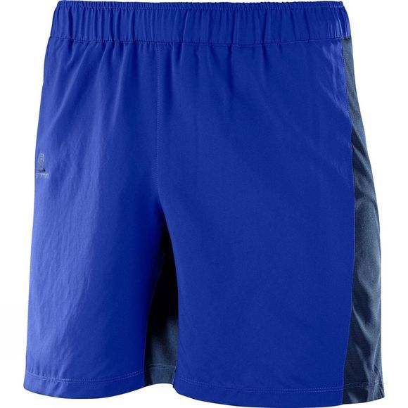 "Salomon Mens Agile 7"" Shorts Surf The Web/Dress Blue"