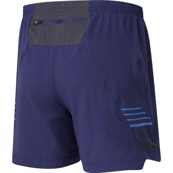 "Ronhill Mens Stride 5"" Shorts Midnight Blue/ Azurite"