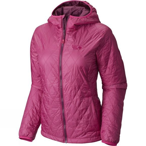 Mountain Hardwear Womens Thermostatic Hooded Jacket Deep Blush