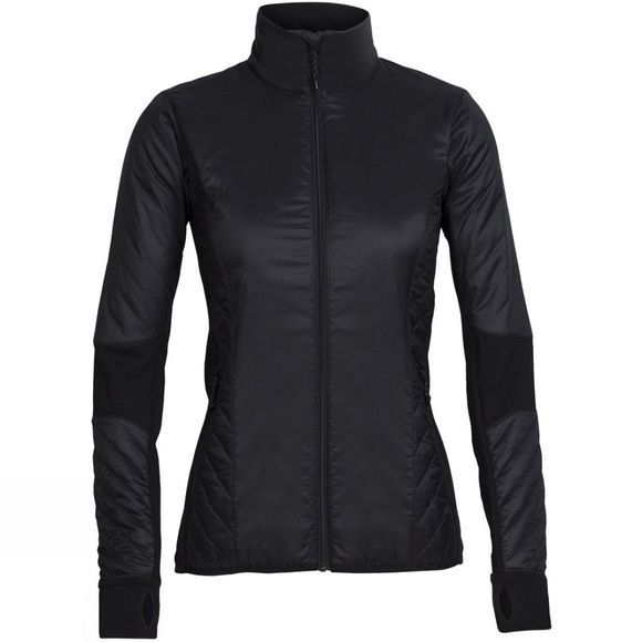 Icebreaker Womens Helix Long Sleeve Zip Black