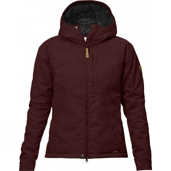 Fjallraven Womens Kiruna Padded Jacket Burnt Red