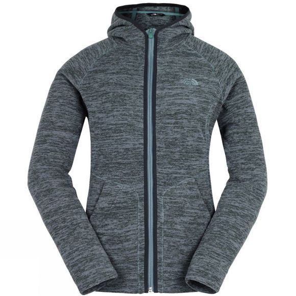 The North Face Womens Nikster Full Zip Hoodie Darkest Spruce Light Heather
