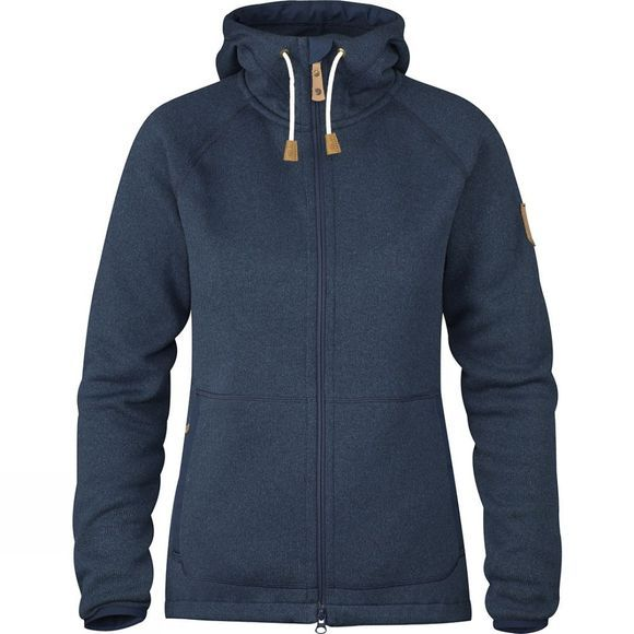 Fjallraven Womens Övik Fleece Hoodie Navy