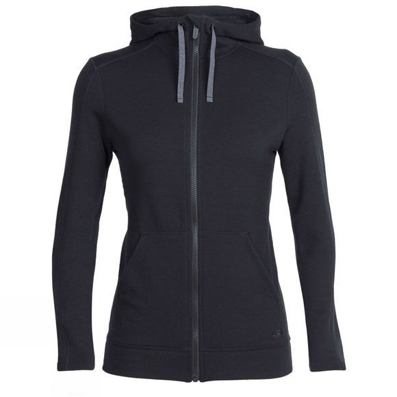 Icebreaker Womens DIA LS Zip Hood Jet heather