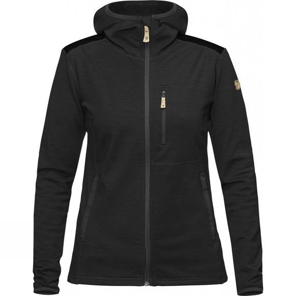 Fjallraven Womens Keb Fleece Hoodie Dark Grey