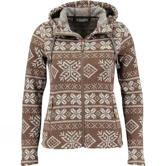 Ayacucho Womens Inverno Hoodie Brown/Gold