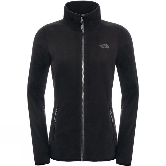 The North Face Womens 100 Glacier Full Zip Fleece TNF Black