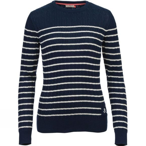 Womens Stripe Cable Jumper