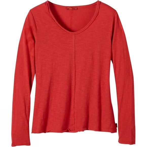 PrAna Womens Romina Top Sunwashed Red