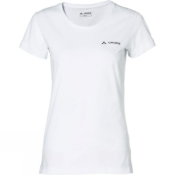 Vaude Womens Brand Short Sleeve T-Shirt White