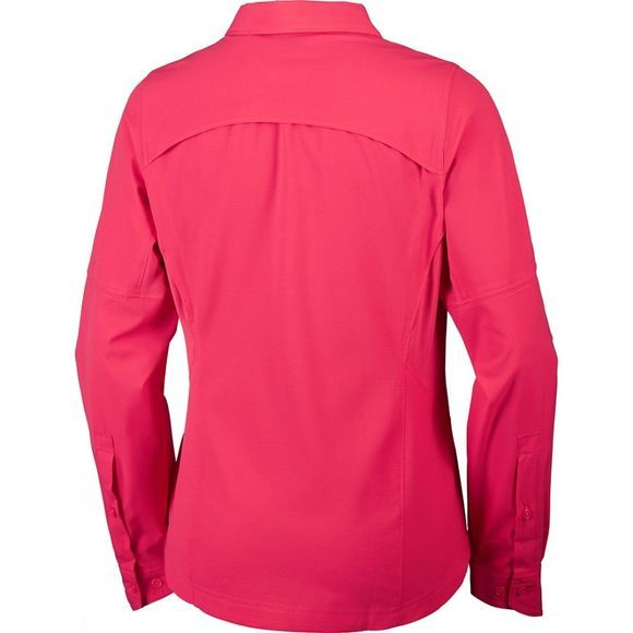 Columbia Womens Silver Ridge Long Sleeve Shirt Red Camellia