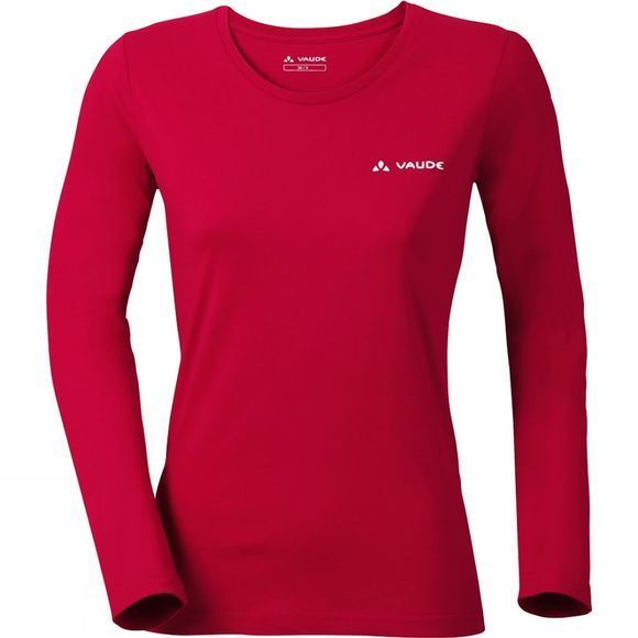 Vaude Womens Brand Long Sleeve Shirt Indian Red