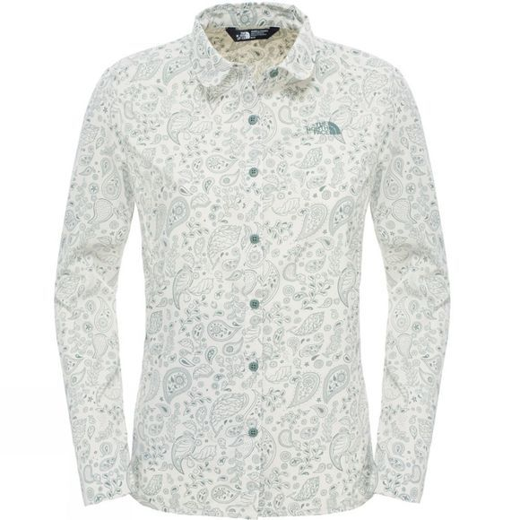 The North Face Womens Long Sleeve Alicia Shirt Vintage White Paisley Print