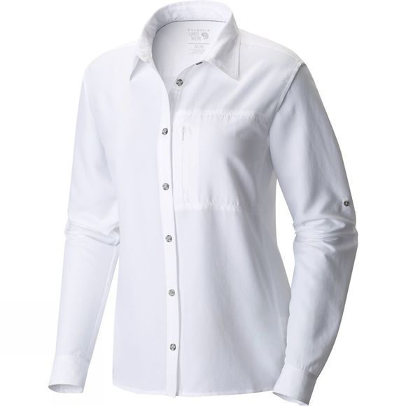 Mountain Hardwear Women's Canyon Long Sleeve Shirt White