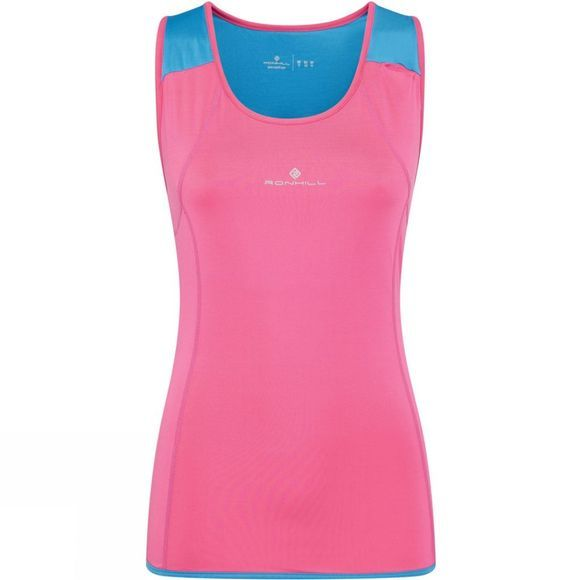 Ronhill Ronhill Womens Trail Cargo Tank Rose/Sky Blue