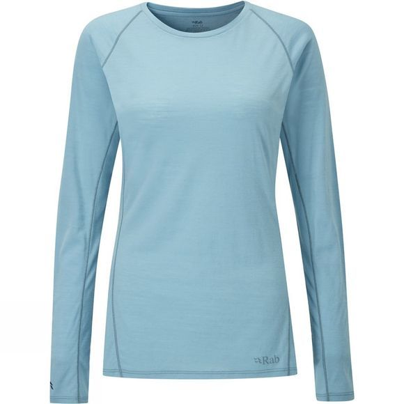 Rab Women's Merino+ 120 Long Sleeve Tee Cool Grey