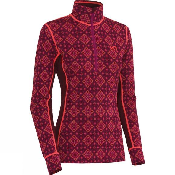 Womens Rose Half Zip Top