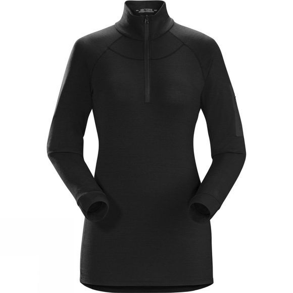 Arc'teryx Womens Satoro AR Long Sleeve Zip Neck Black