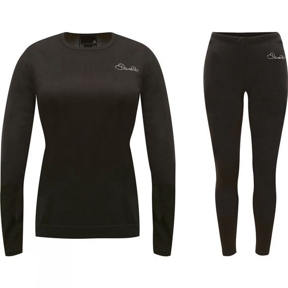 Dare 2 b Womens In Mode Base Layer Set Black