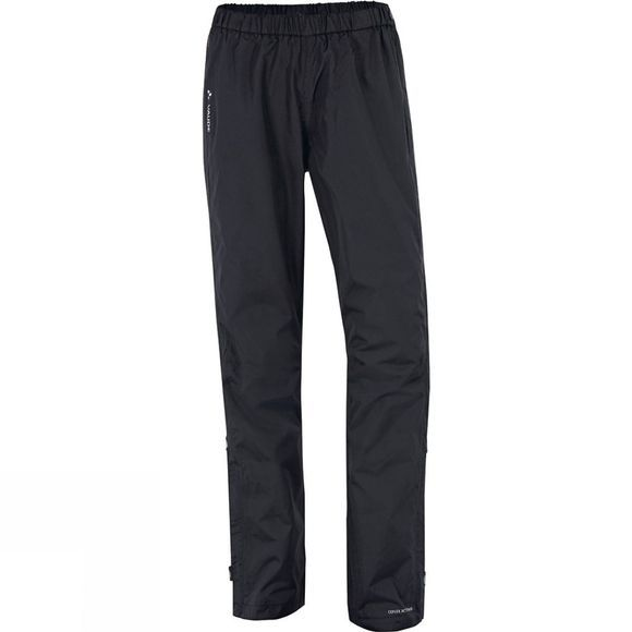 Vaude Womens Fluid Full-Zip Pants Black