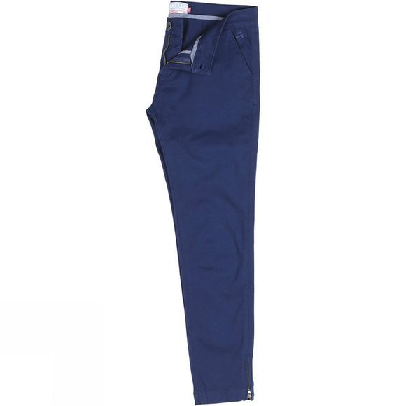 Womens Zip Hem Chino Trousers