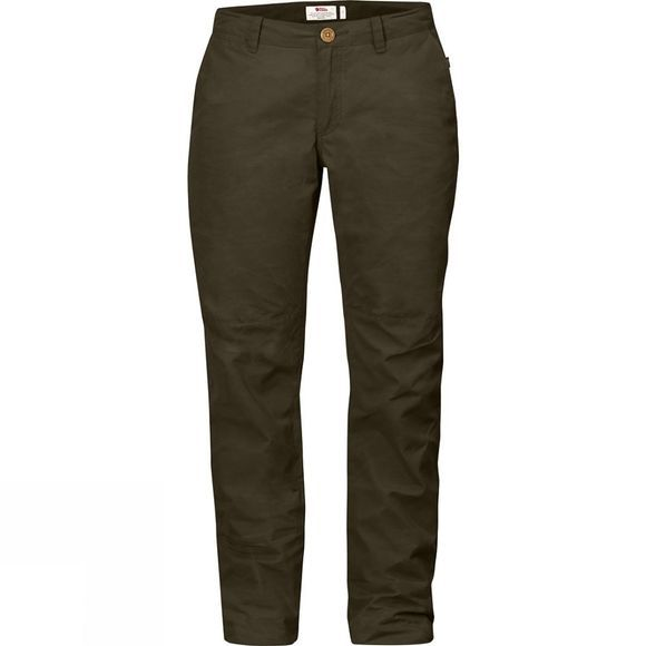 Fjallraven Womens Sörmland Tapered Trousers Dark Olive