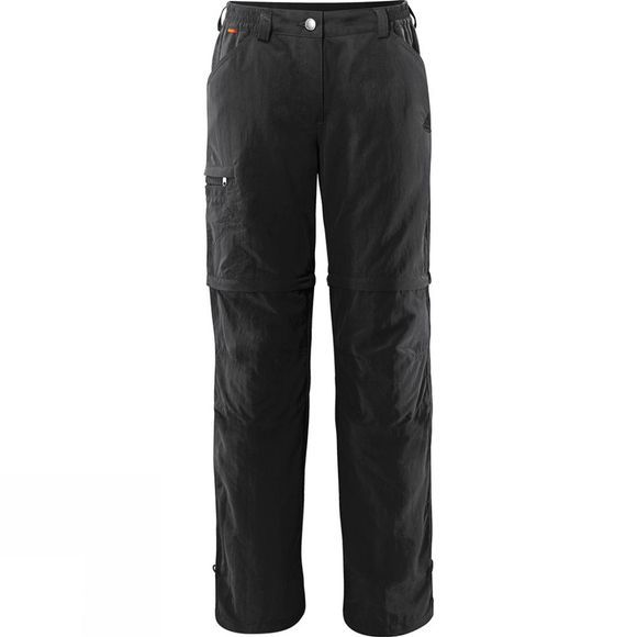 Vaude Womens Farley Zip Off Pants IV Black
