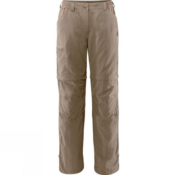 Vaude Womens Farley Zip Off Pants IV Muddy