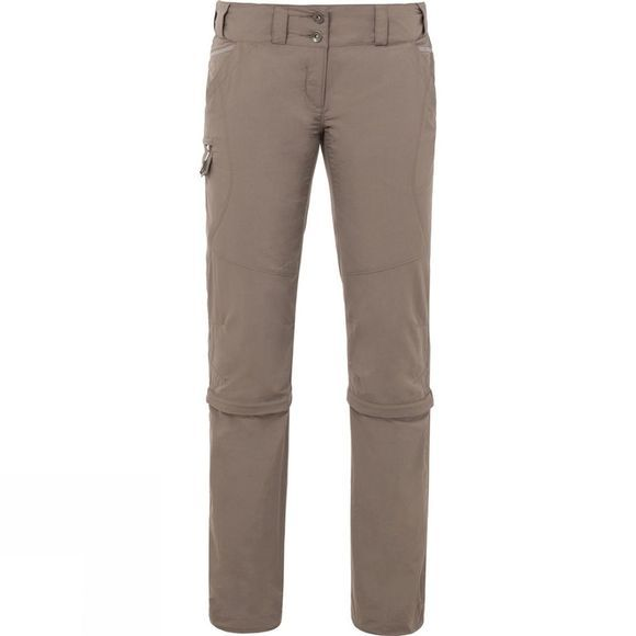 Vaude Womens Skomer Capri Zip Off Pants Coconut
