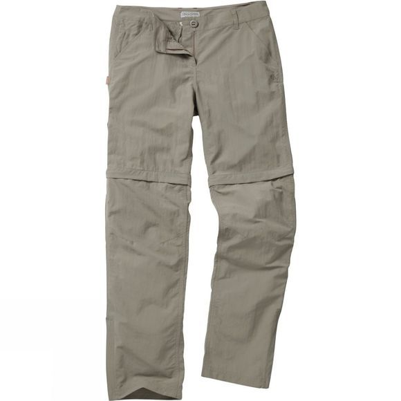 Craghoppers Womens NosiLife Zip Off Trousers Mushroom