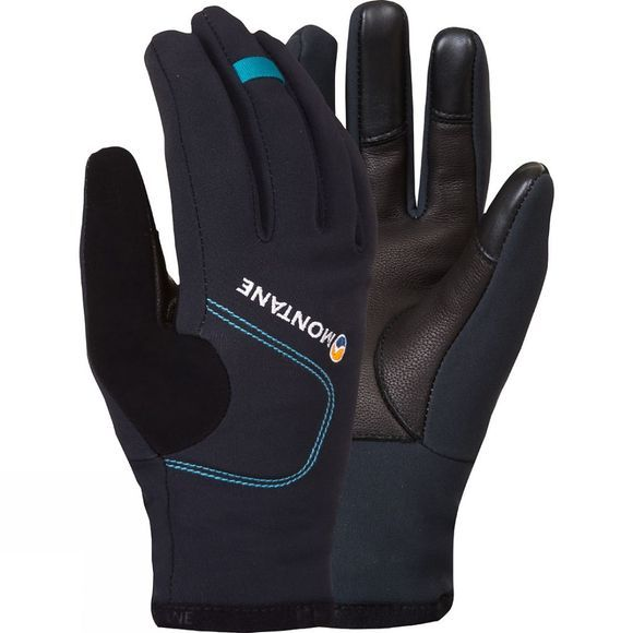 Montane Womens Windjammer Glove Black / Zanskar Blue
