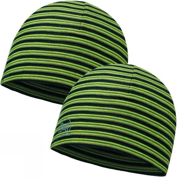 Buff Microfibre Reversible Hat Yellow Fluor Stripes