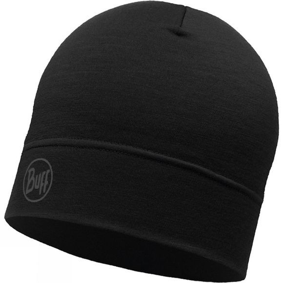 Buff Merino Wool Singer Layer Hat Black