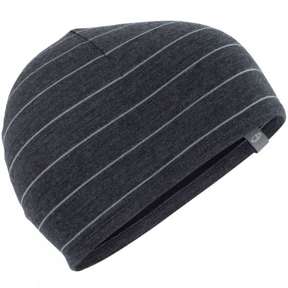Icebreaker Pocket Hat Jet Heather Stripe/ Black