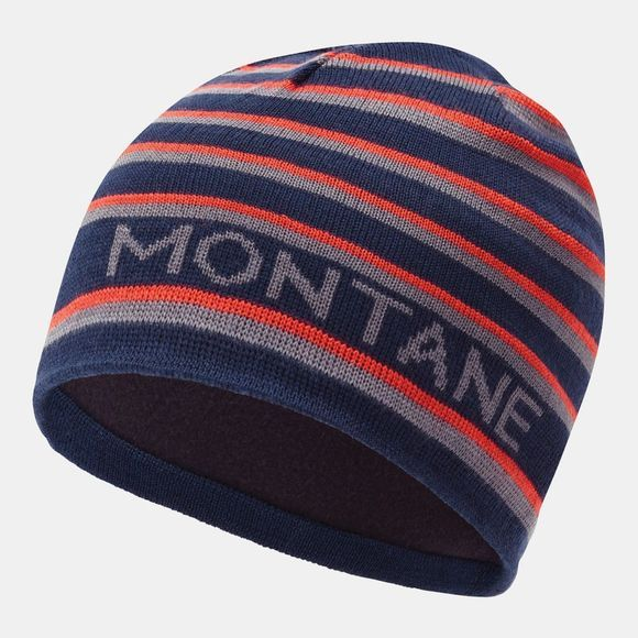 Montane Mens Signature Beanie  Stripe Blue Antarctic