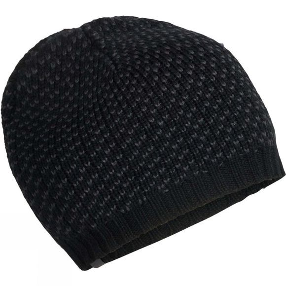 Icebreaker Mens Snow Mix Beanie Black/Monsoon