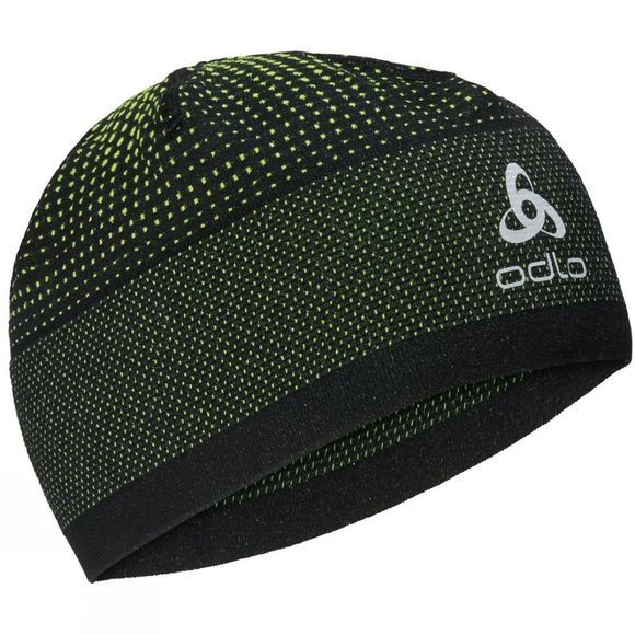 Odlo Velocity Ceramiwarm Hat Black - Safety Yellow