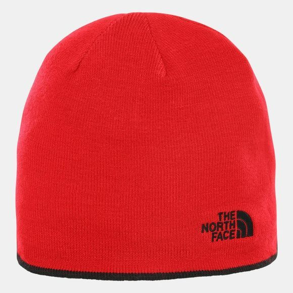 The North Face Reversible TNF Banner Beanie TNF Black/TNF Red Logo Xl