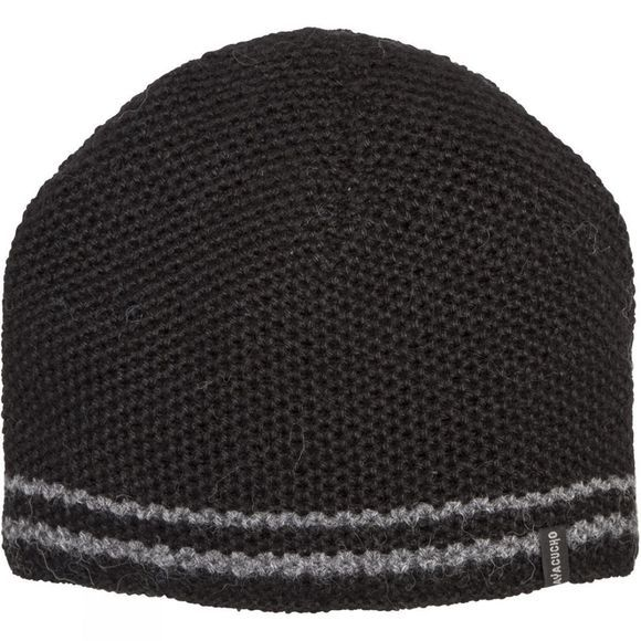 Ayacucho Mens Twin Stripe Beanie Black/Grey